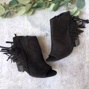 Coconuts by Matisse Lucretia suede fringe booties